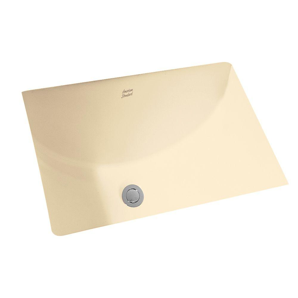 American Standard Studio Rectangular Undermount Bathroom Sink In Bone The Home Depot