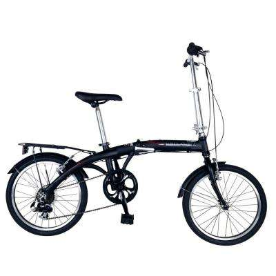Amsterdam 7 Folding Bicycle, 20 in. Wheels, 11 in. Frame, Unisex in Black
