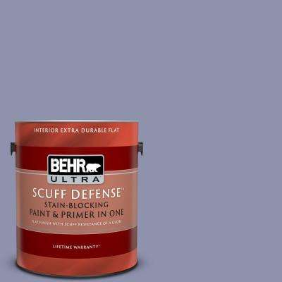 1 gal. #S560-4 Monarchy Extra Durable Flat Interior Paint and Primer in One