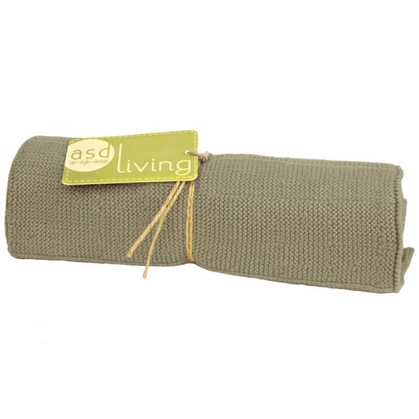 Knitted Kitchen Towel, Stone Grey