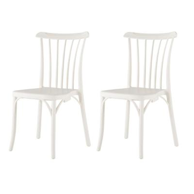 Stackable Rio White Dining Chair (Set of 2)