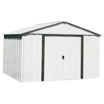 Arlington 10 ft  W x 12 ft  D Galvanized Metal White Storage Building