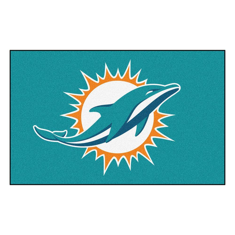 Fanmats Miami Dolphins 5 Ft X 8 Ft Ulti Mat 5795 The