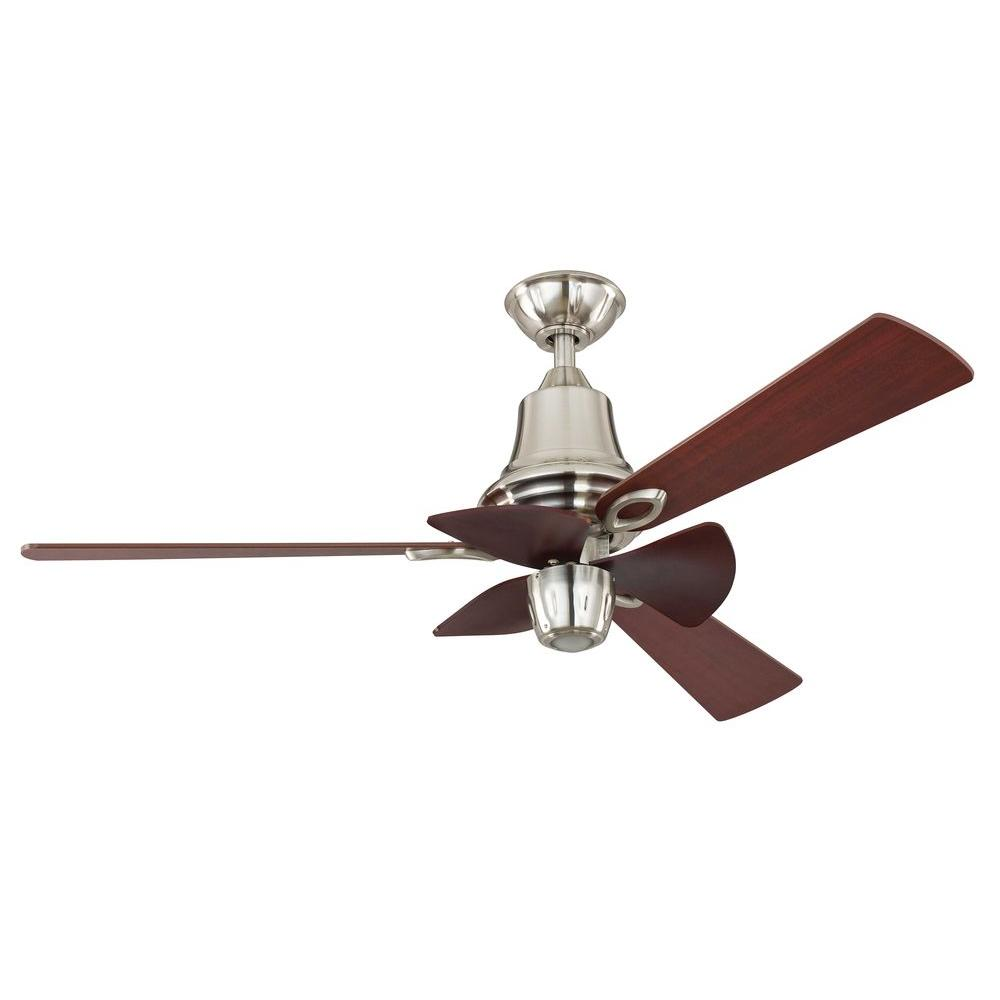 Hampton Bay Cohutta 52 in. Brushed Nickel Ceiling Fan
