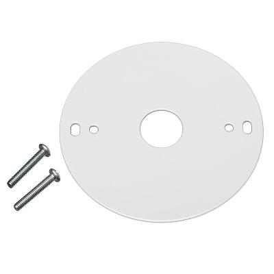 4 in. White Mounting Plate and Mounting Screws for Commercial Electric LED Strip Lights Covers Standard Junction Box