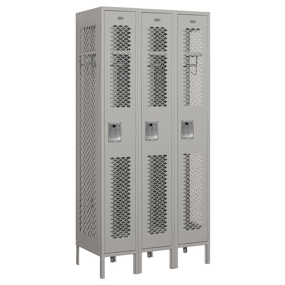 Salsbury Industries 71000 Series 36 in. W x 78 in. H x 18 in. D Single Tier Vented Metal Locker Assembled in Gray