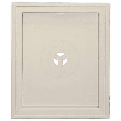 6.75 in. x 8.75 in. #048 Almond Large Recessed Universal Mounting Block
