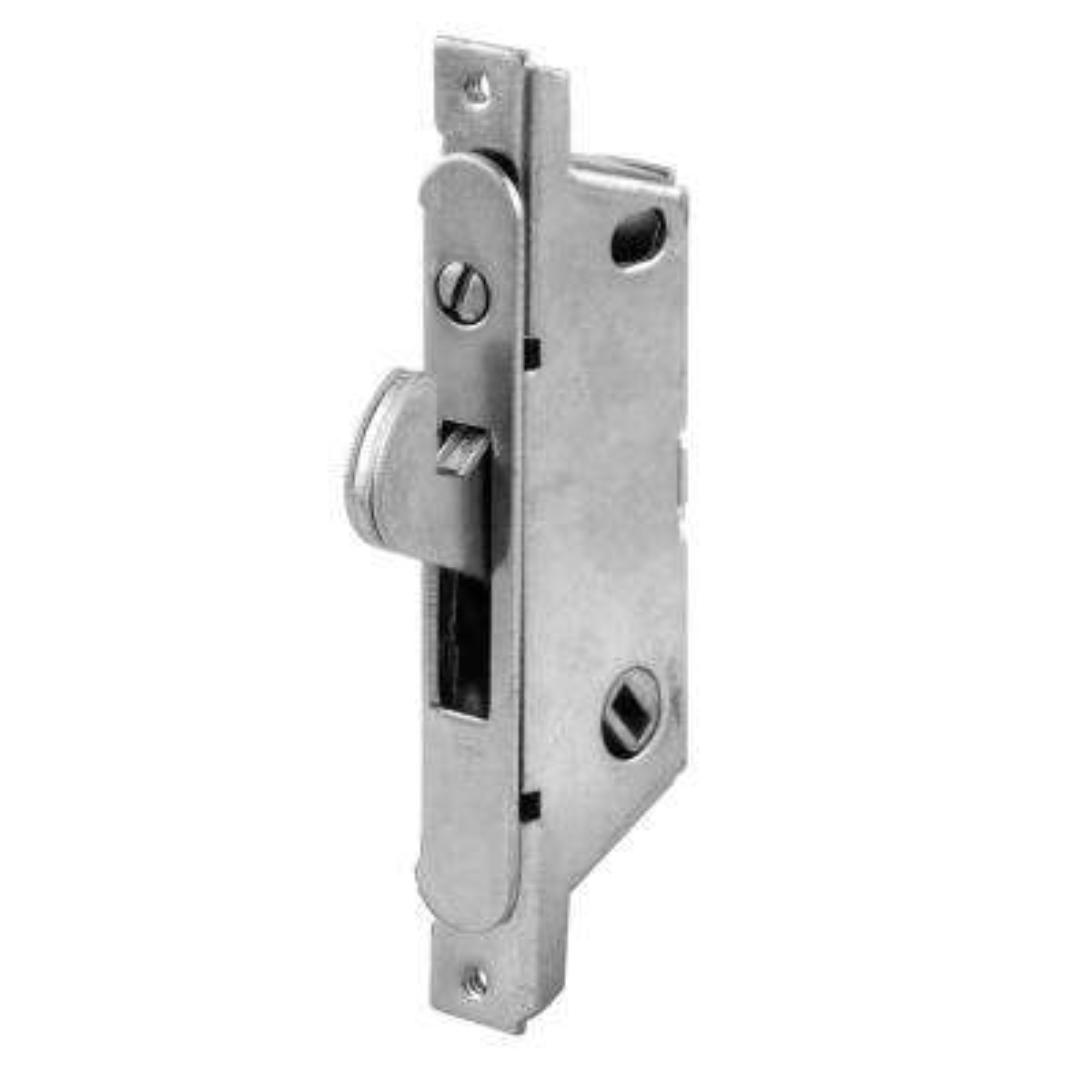 Sliding Door Mortise Lock, 45 Degree, Round Face, Stain/Steel