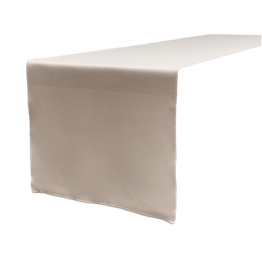 14 in. x 108 in. Light Gray Polyester Poplin Table Runner