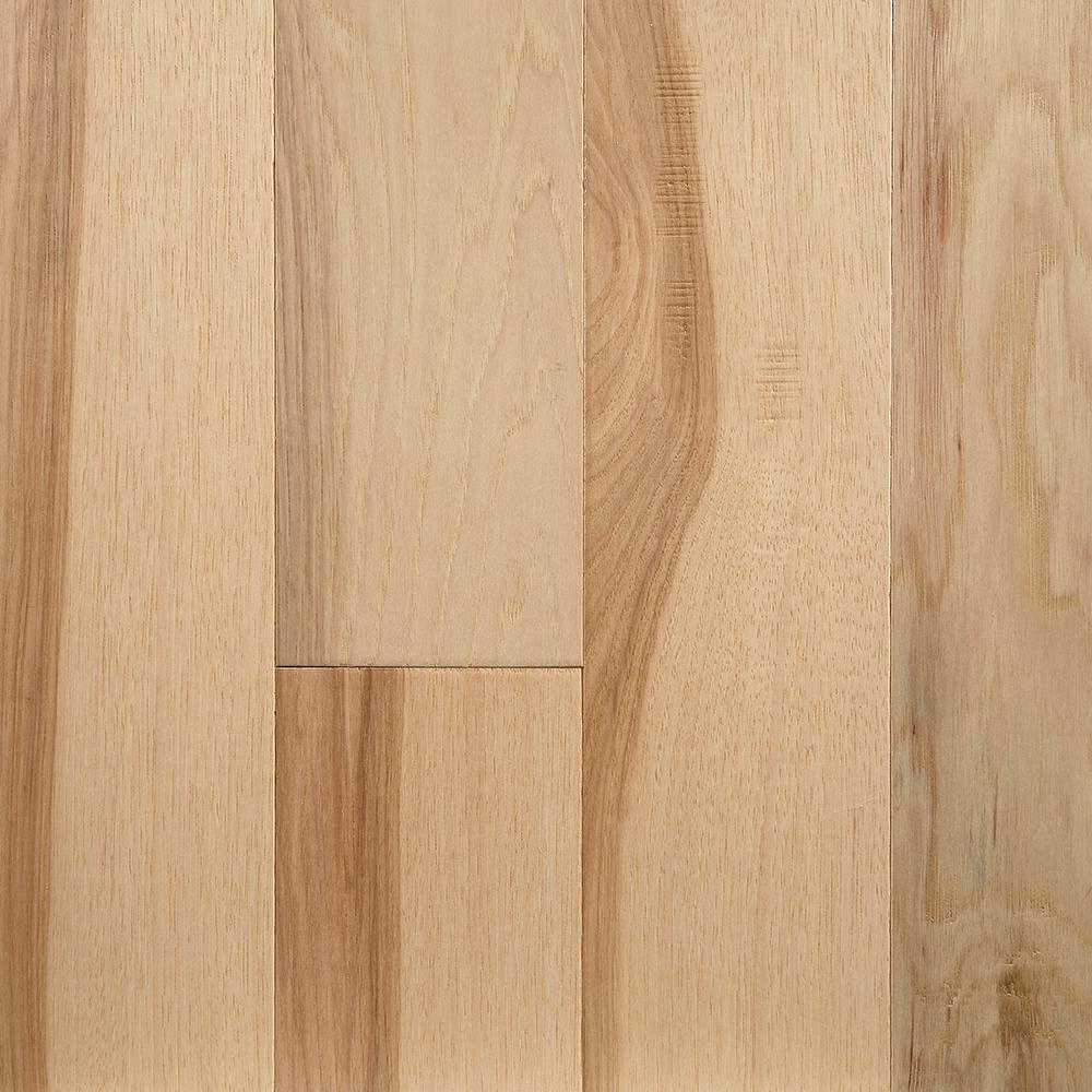 Take Home Sample - Natural Hickory Engineered Waterproof Hardwood Flooring - 5 in. Width x 6 in. Length