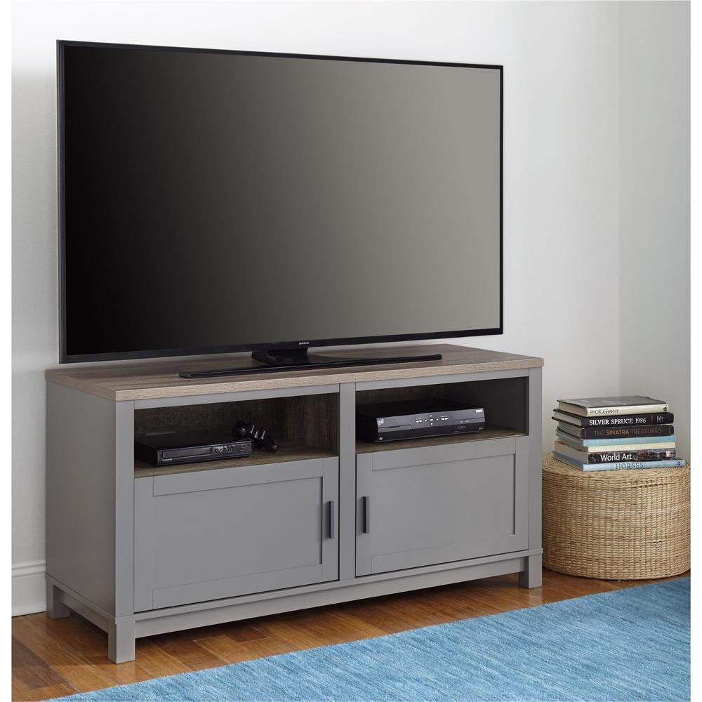 Ameriwood 60 In Viola Gray Sonoma Oak Tv Stand Hd28434 The Home Depot