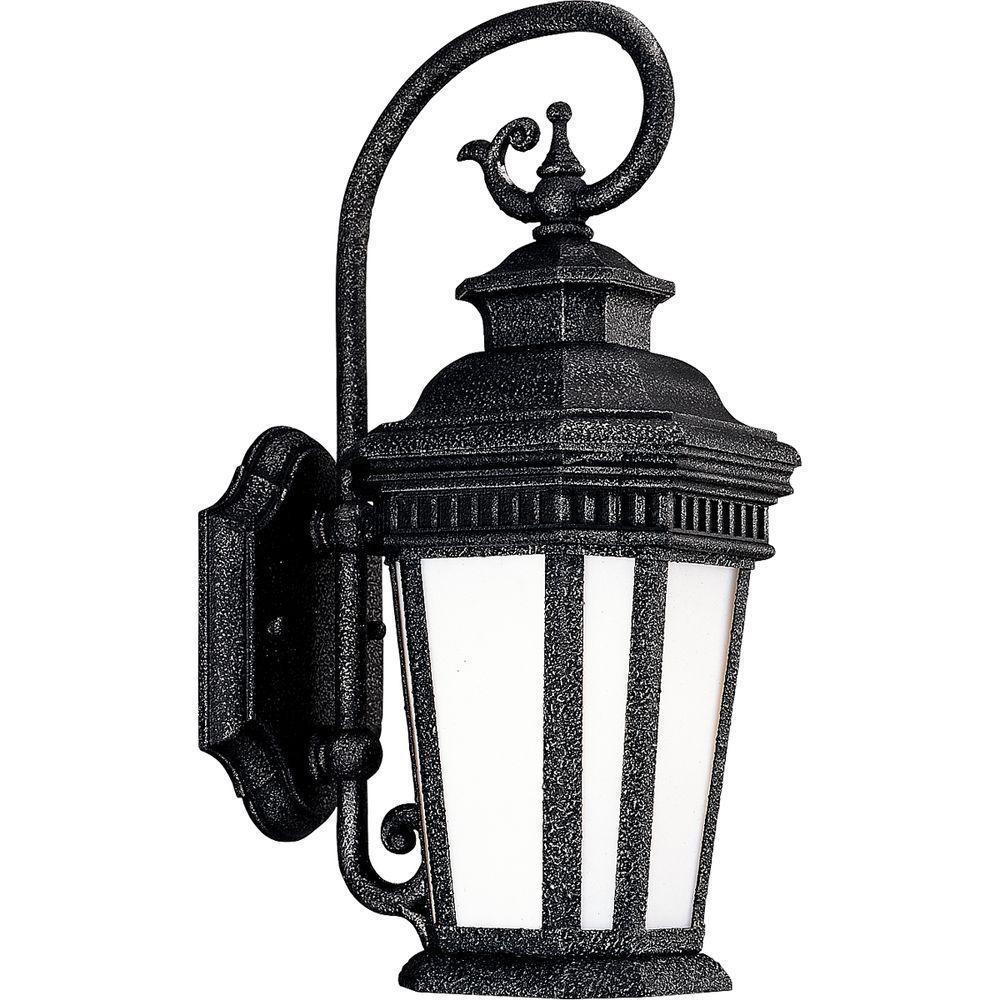 Progress Lighting Georgian Collection Gilded Iron 1-light Wall Lantern-DISCONTINUED