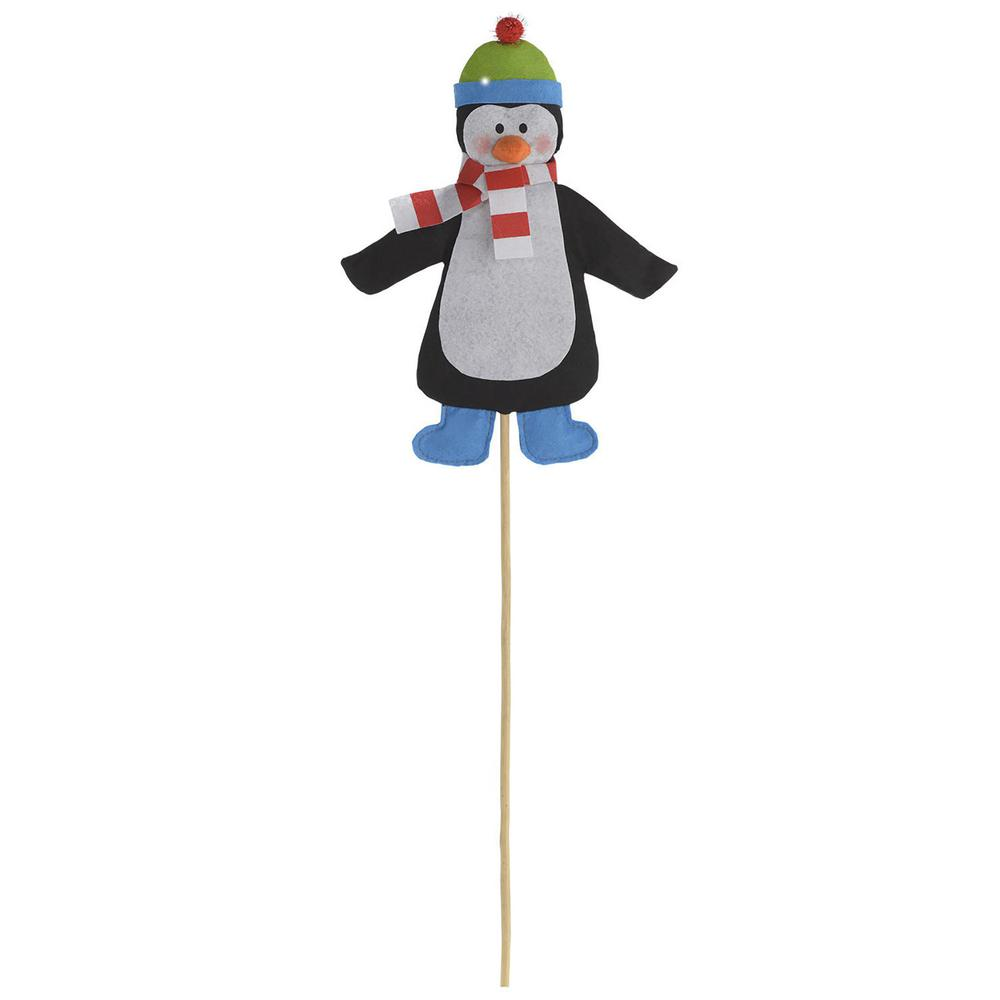 Friendly Penguin 24.5 in. Christmas Yard Sign (4-Pack)