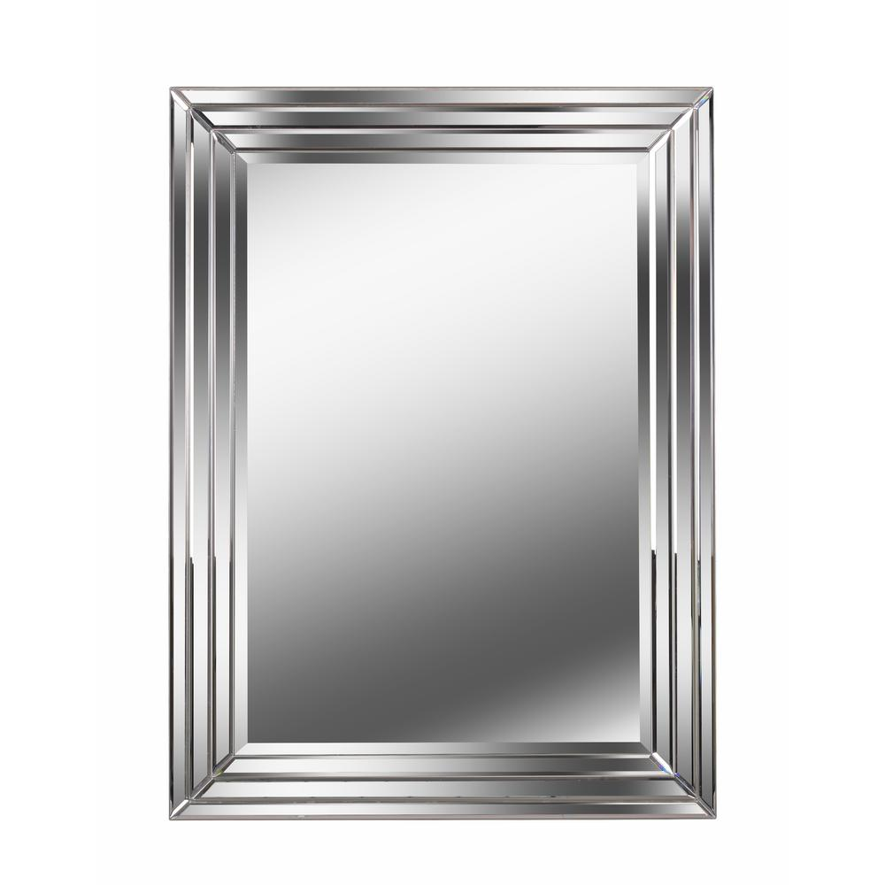 Kenroy Home Exeter Mirror Rectangular Silver Wall 60427 The Depot