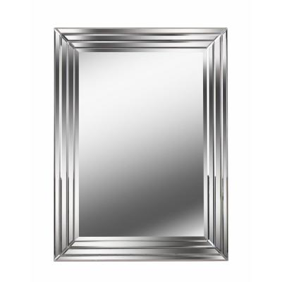 Medium Rectangle Mirror Finish Beveled Glass Classic Mirror (40 in. H x 30 in. W)