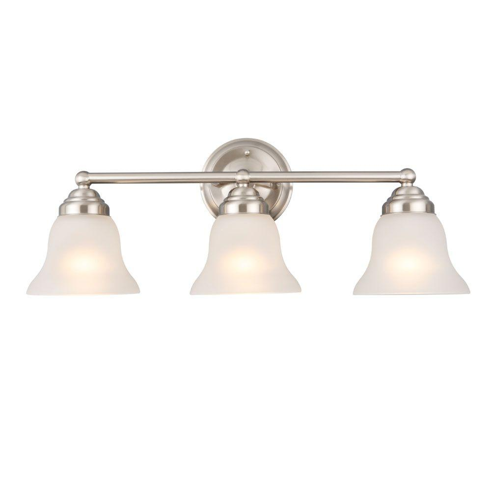 Perfect Home 3-Light Brushed Nickel Vanity Light