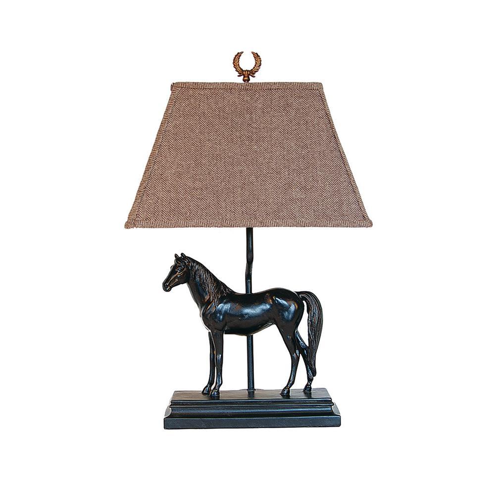 24 in. Black Novelty Lamp