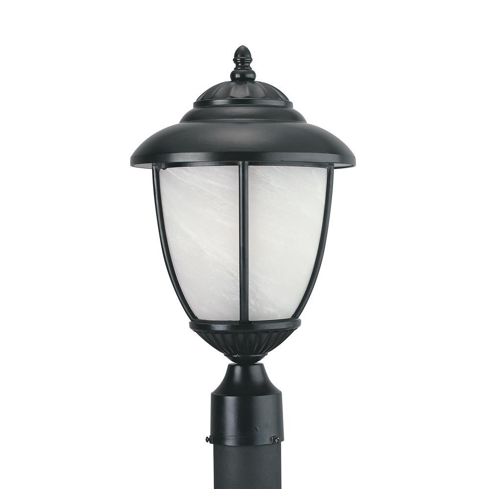 Yorktown 1-Light Outdoor Black Post Light