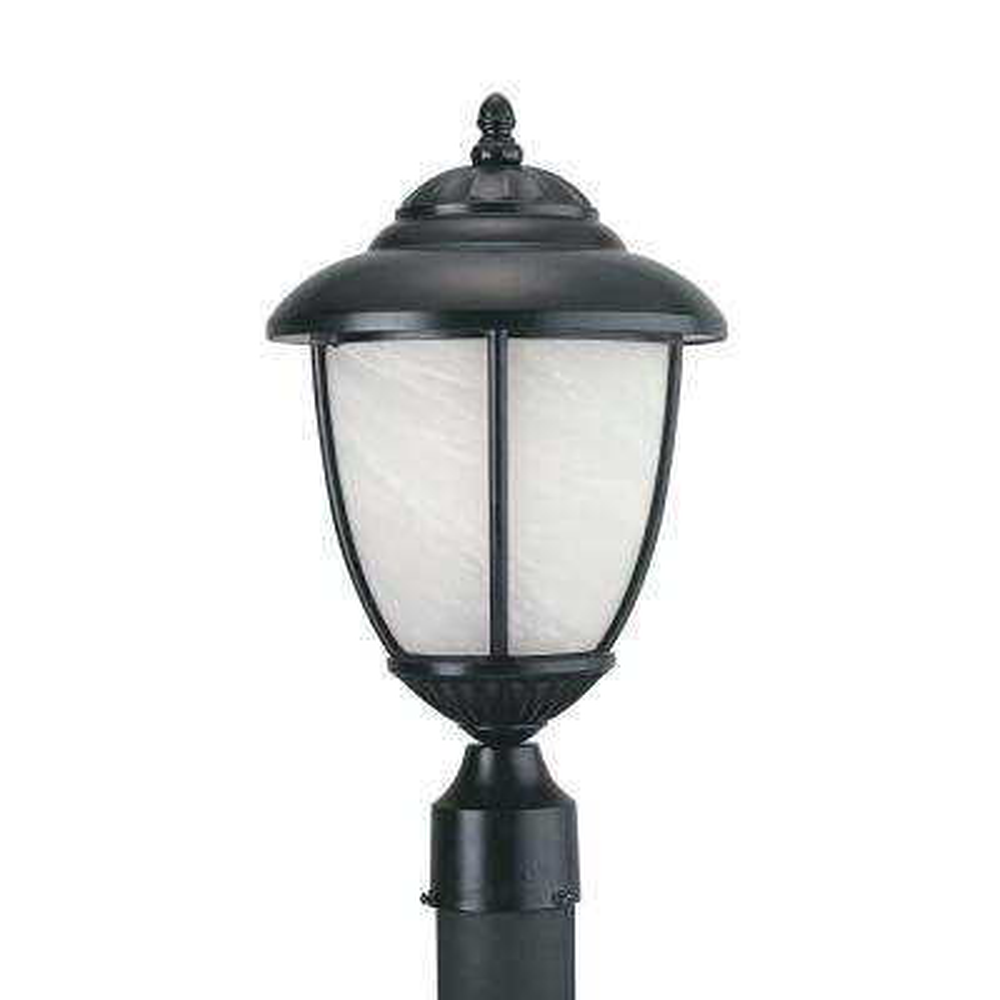 Yorktown 1-Light Outdoor Black Post Light with LED Bulb