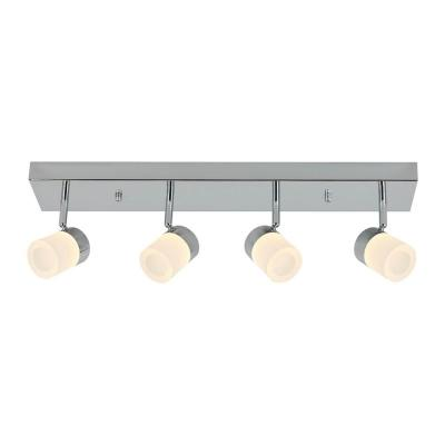 Bahia 2 ft. 4-Light Chrome Integrated LED Track Lighting Kit