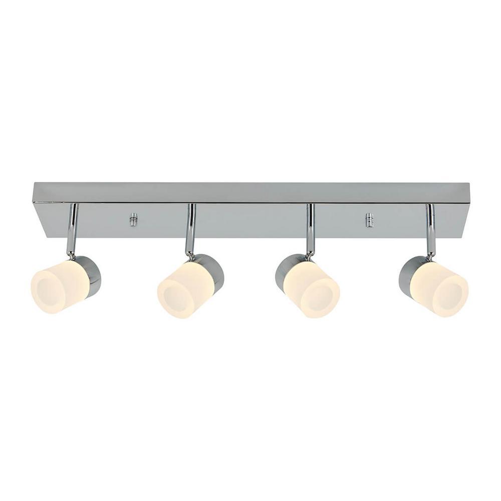 Bahia 2 ft. 4-Light Chrome Integrated LED Track Lighting Kit