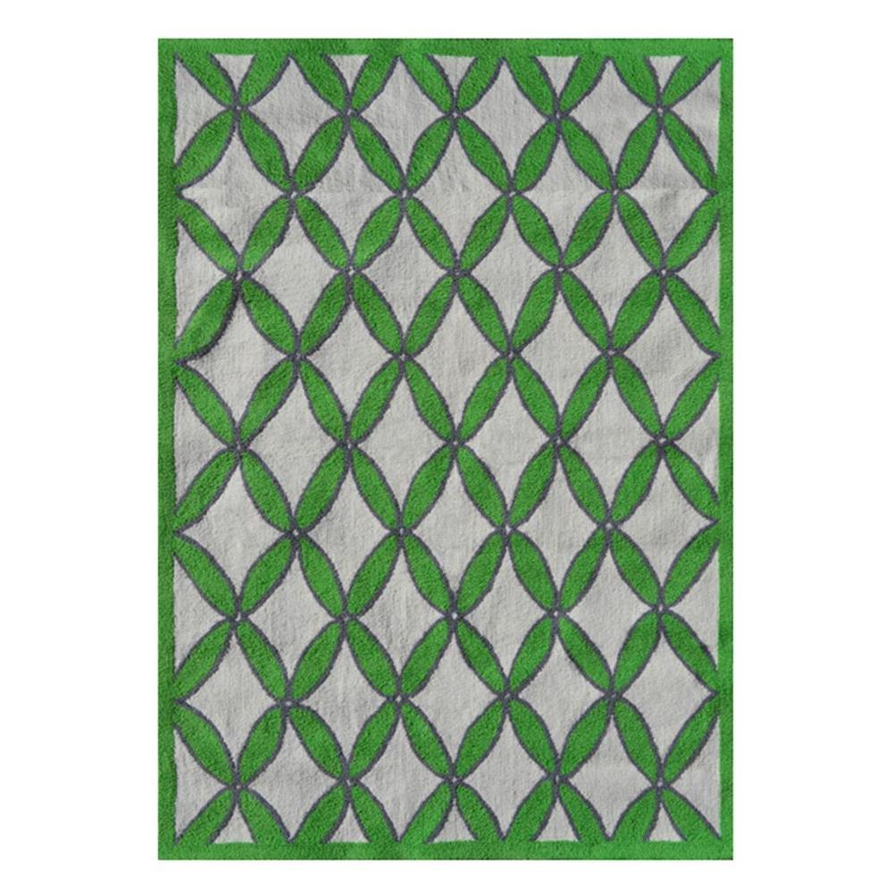 Diamonds Green 5 ft. x 7 ft. Indoor Area Rug