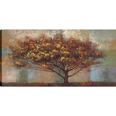 Highway trees II, Landscape Art, Unframed Canvas Print Wall Art 24X48 Ready to hang by ArtMaison.ca