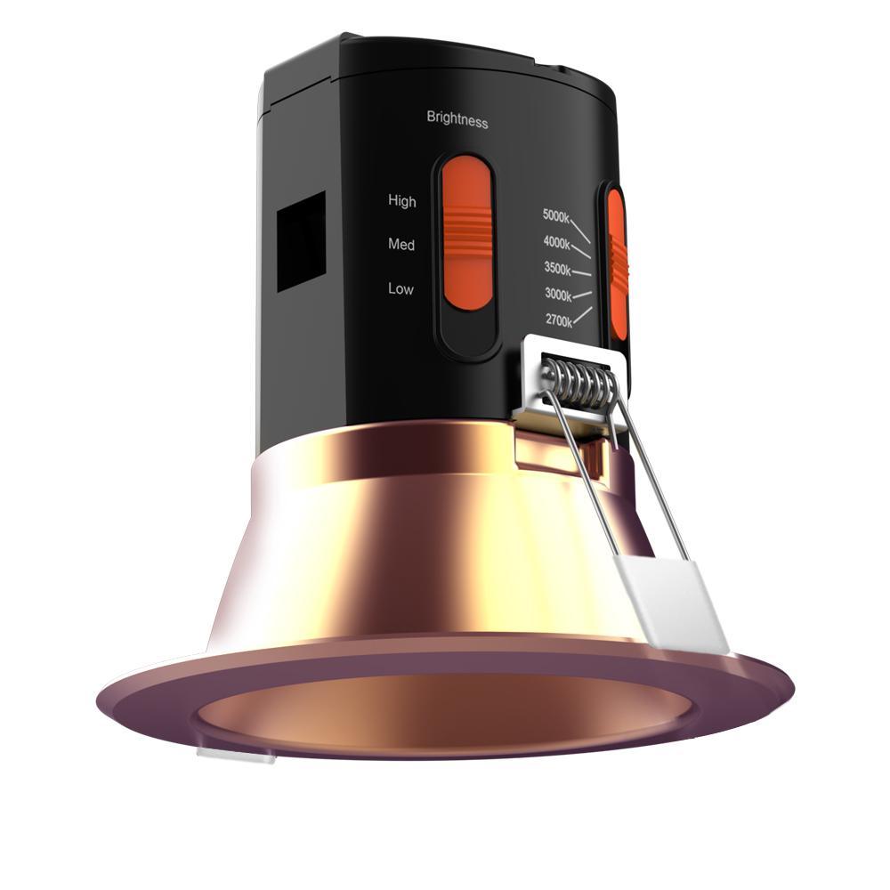 Premium Downlight 4in. Copper Integrated LED Recessed Kit