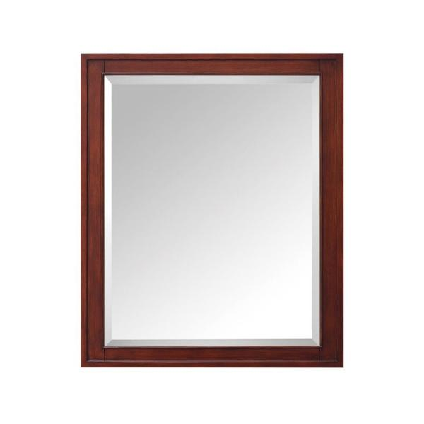 Madison 28 in. W x 36 in. H x 6-3/10 in. D Framed Surface-Mount 3-Shelf Bathroom Medicine Cabinet in Tobacco