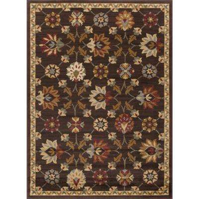 Elegance Brown 9 ft. 3 in. x 12 ft. 6 in. Indoor Area Rug