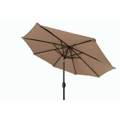8 ft. Market Tilt Crank Patio Umbrella in Tan