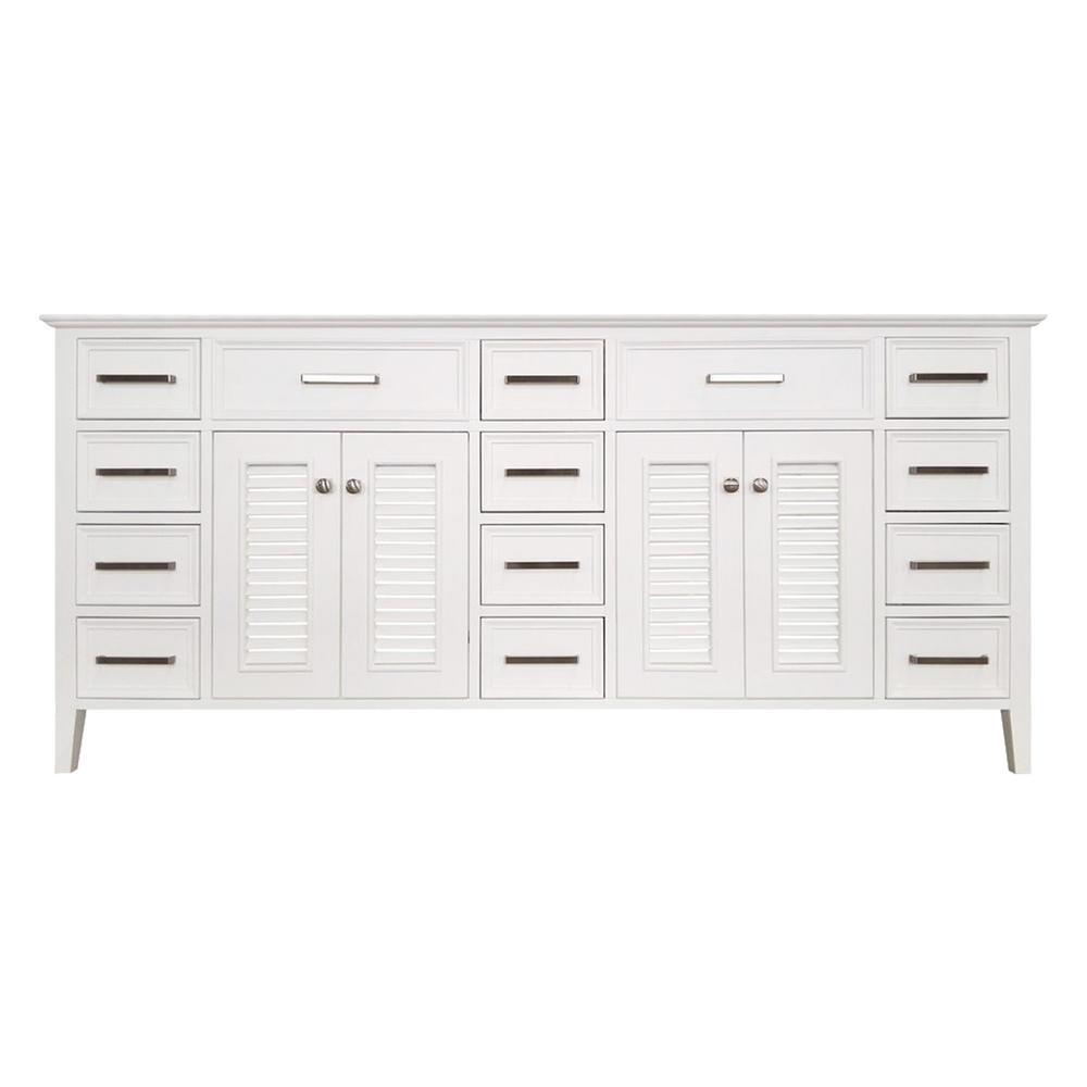 Kensington 73 In. Bath Vanity Cabinet Only In White