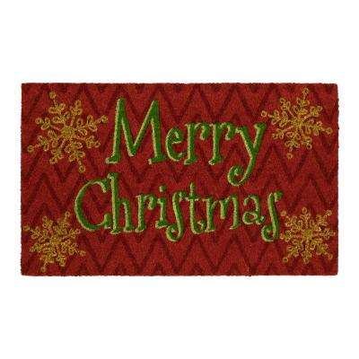 Merry Hy Christmas 18 In X 30 Coir Door Mat