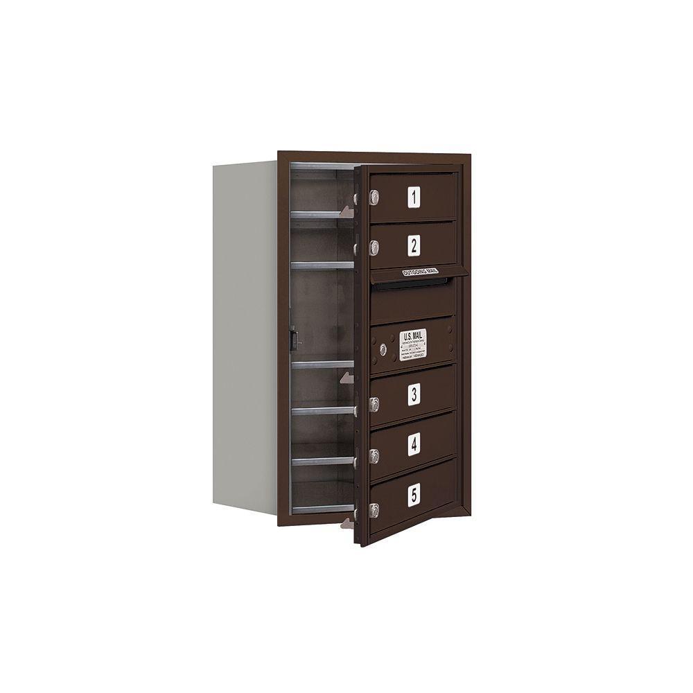 3700 Series 27 in. 7 Door High Unit Bronze USPS Front