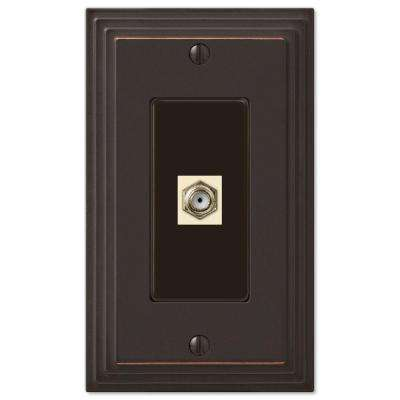 Steps 1 Coax Wall Plate - Oil-Rubbed Bronze