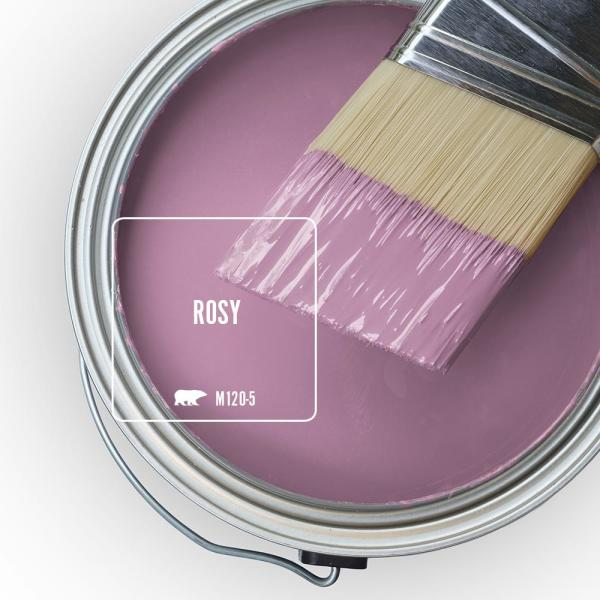 Reviews For Behr Ultra 1 Qt M120 5 Rosy Extra Durable Semi Gloss Enamel Interior Paint Primer 375404 The Home Depot