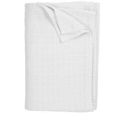 Gossamer White Throw