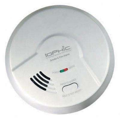 Hardwired, Dual Sensing 2-In-1 Smoke & Fire Detector With Battery Backup, Pull-Out Drawer, Microprocessor Intelligence