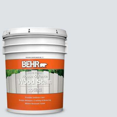 5 gal. #W-F-520 Ash White Solid Color House and Fence Exterior Wood Stain