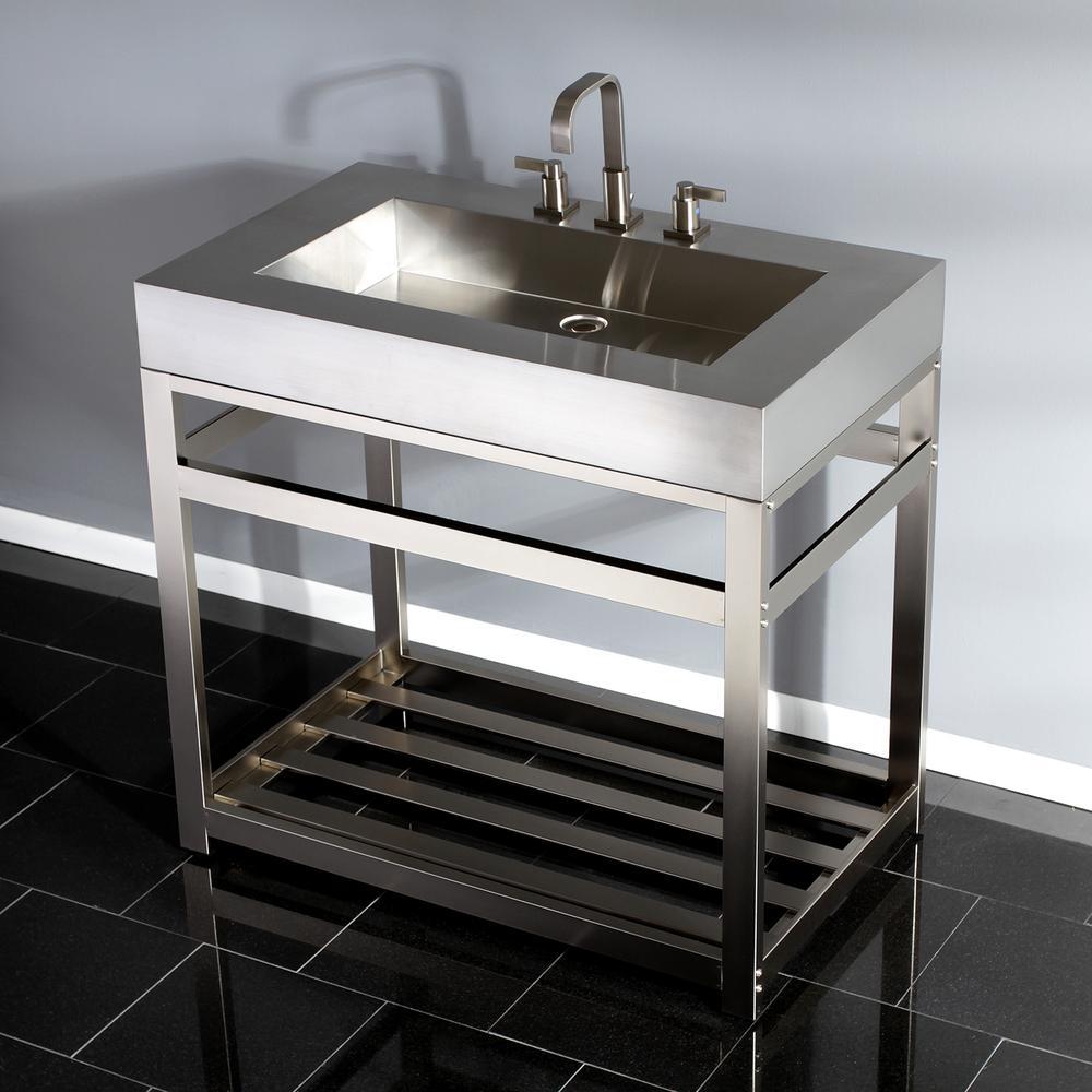 Bath Vanity In Brushed Nickel