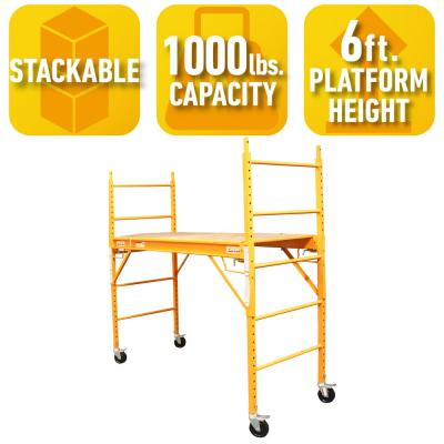 6 ft. x 6 ft. x 2.4 ft. Multi-Use Drywall Baker Scaffolding with 1000 lb. Capacity