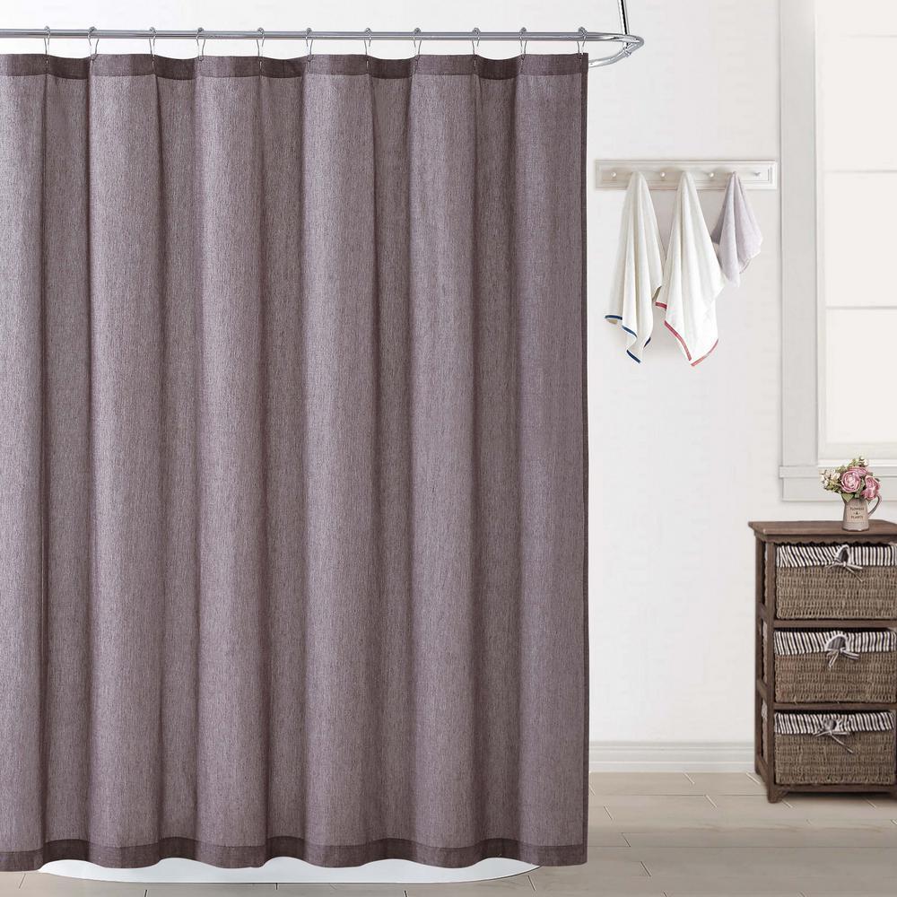 Chambray Coast Plum Shower Curtain