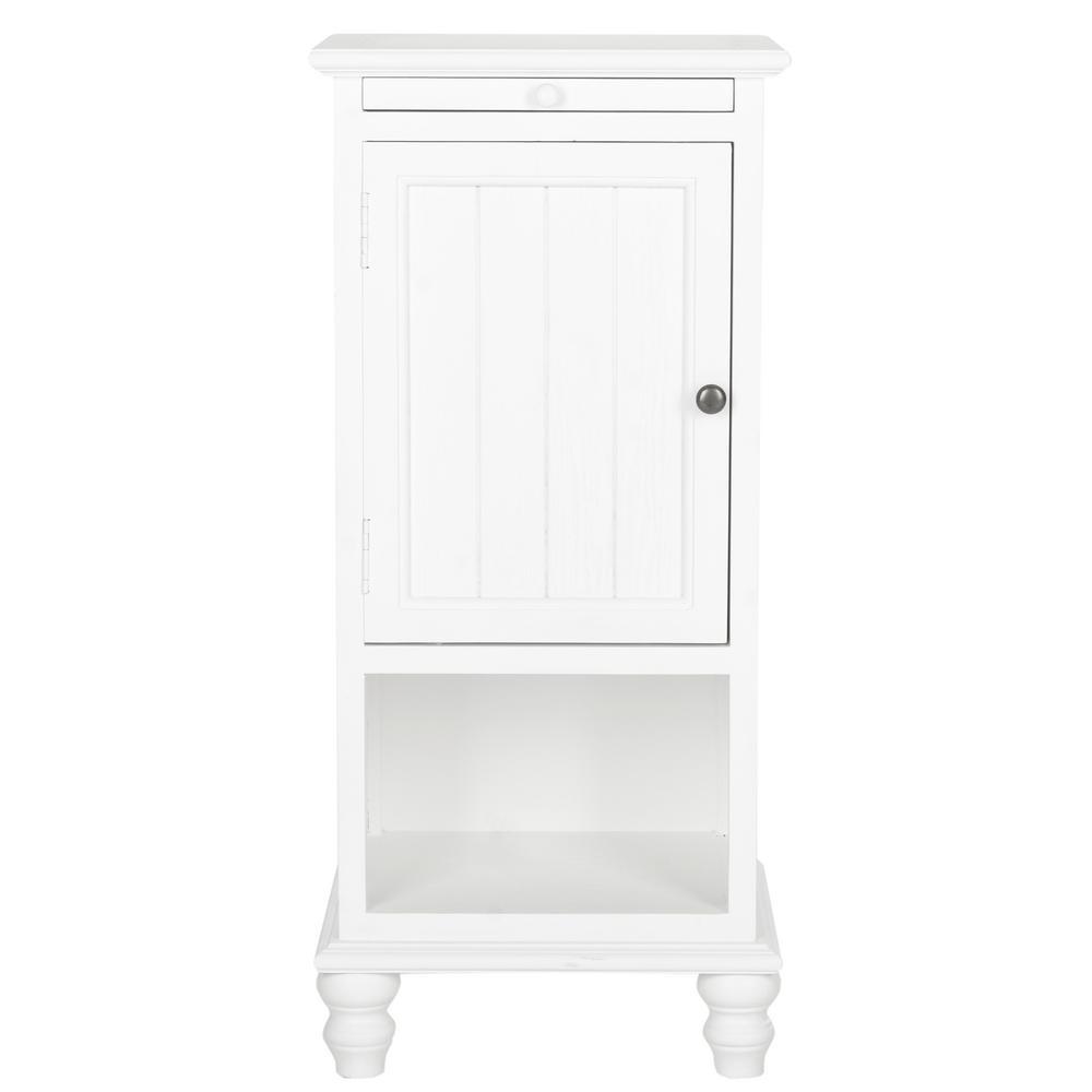 Jezabel White Storage End Table