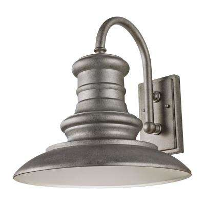 Redding Station 1-Light Tarnished Silver Outdoor Integrated LED Wall Mount Sconce