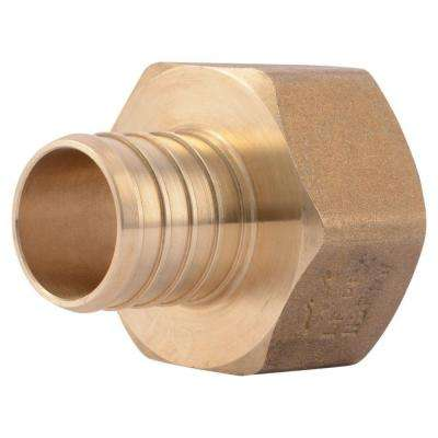 1 in. PEX Barb x FIP Brass Adapter Fitting