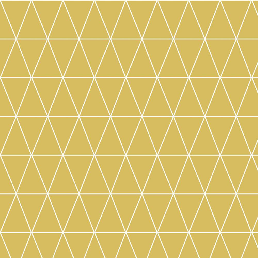 Graham Brown Symmetry Triangolin Mustard Removable Wallpaper