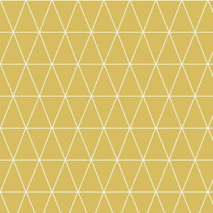 Symmetry Triangolin Mustard Removable Wallpaper