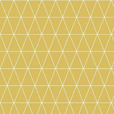 Geometric Yellow Vinyl Wallpaper Home Decor The Home Depot