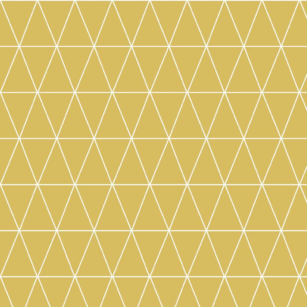 Symmetry Triangolin Mustard Removable Wallpaper Sample