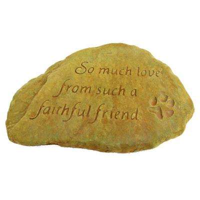 Faithfull Friend Decorative Stone Weathered Bronze